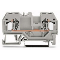 DIN Rail Mount Terminal Block, 2 Positions, 28 AWG, 12 AWG, 4 mm², Clamp, 32 A